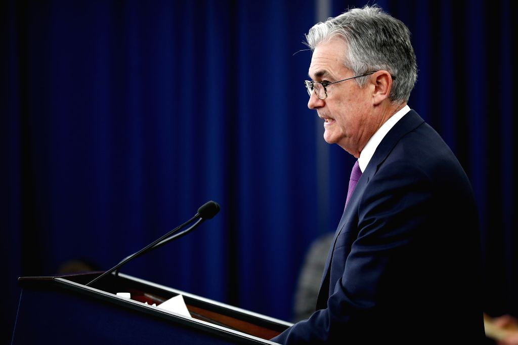 WASHINGTON, Jan. 30, 2019 - U.S. Federal Reserve Chairman Jerome Powell speaks during a press conference in Washington D.C., the United States, on Jan. 30, 2019. The U.S. Federal Reserve on Wednesday ...