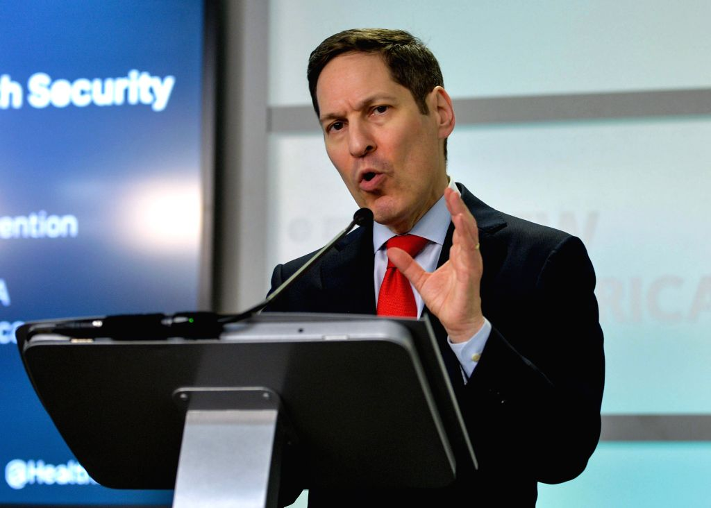 WASHINGTON, July 14, 2016 - Director of the U.S. Centers for Disease Control and Prevention (CDC) Tom Frieden speaks during a discussion on Zika, the Olympics and Global Health Security in Washington ...