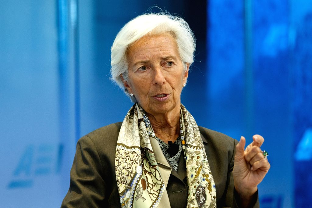 WASHINGTON, July 17, 2019 - File photo taken on June 5, 2019 shows Christine Lagarde in Washington D.C., the United States. International Monetary Fund (IMF) Executive Board said on Tuesday that it ...