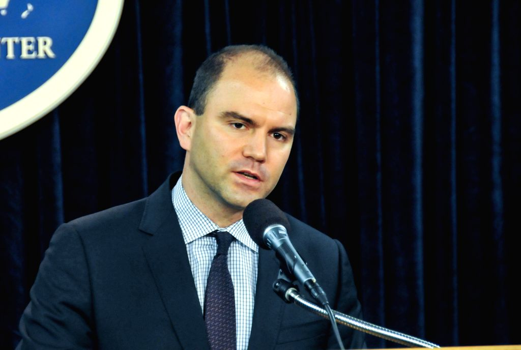 Ben Rhodes, Obama's deputy national security advisor, speaks at a press briefing in Washington D.C., capital of the United States, July 1, 2014. The United States