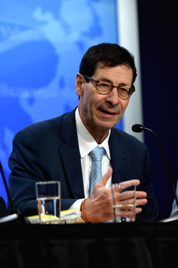 WASHINGTON, July 25, 2018 - Maurice Obstfeld, Economic Counsellor and Director of Research at the International Monetary Fund (IMF), speaks at a press conference on the newly-released 2018 External ...