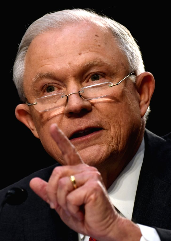 WASHINGTON, June 13, 2017 - U.S. Attorney General Jeff Sessions testifies before the U.S. Senate Intelligence Committee on Capitol Hill, in Washington D.C., the United States, on June 13, 2017. U.S. ...