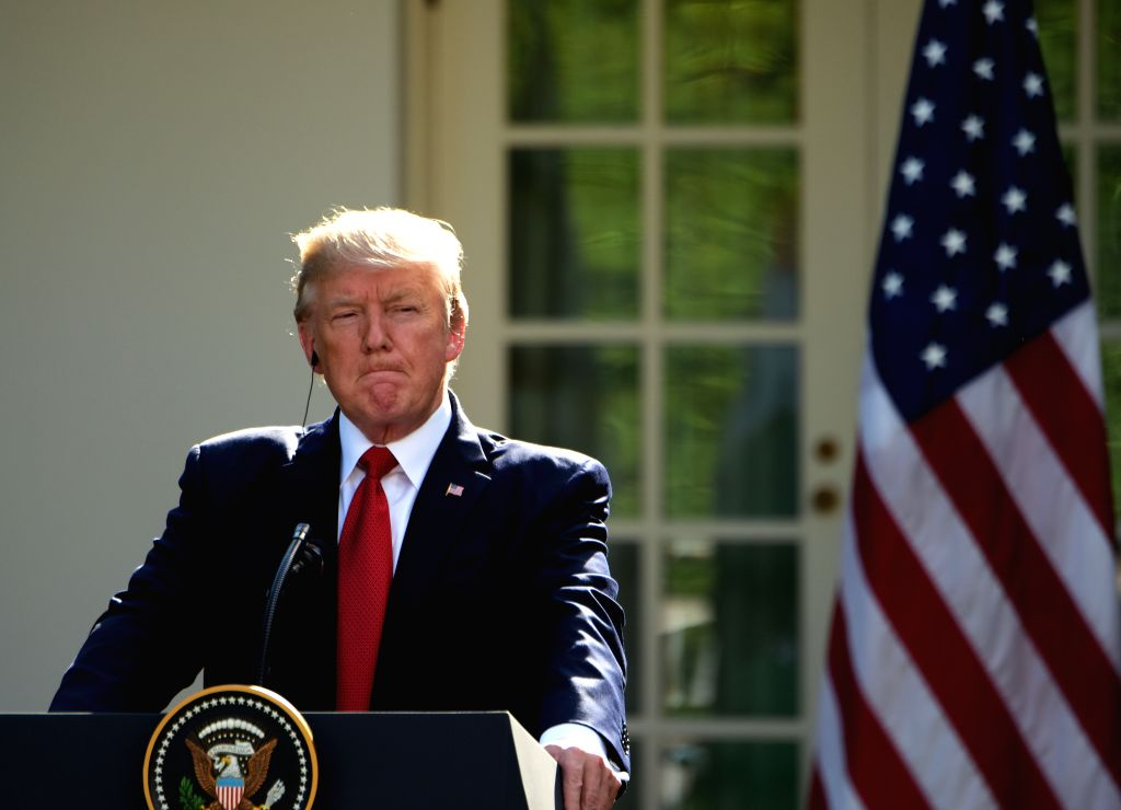 WASHINGTON, June 27, 2017 - U.S. President Donald Trump listens during joint statements with Indian Prime Minister Narendra Modi (not in the picture) at the White House in Washington D.C., the United ... - Narendra Modi