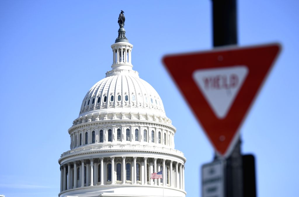 WASHINGTON, March 14, 2019 - The Capitol Hill is seen in Washington D.C., the United States, on March 14, 2019. The U.S. Senate on Thursday voted 59-41 in favor of blocking President Donald Trump's ...