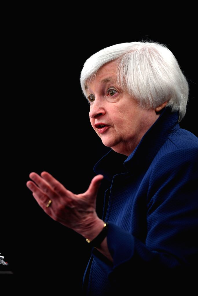 WASHINGTON, March 15, 2017 - U.S. Federal Reserve Chair Janet Yellen speaks during a news conference in Washington D.C., capital of the United States, on March 15, 2017. U.S. Federal Reserve on ...