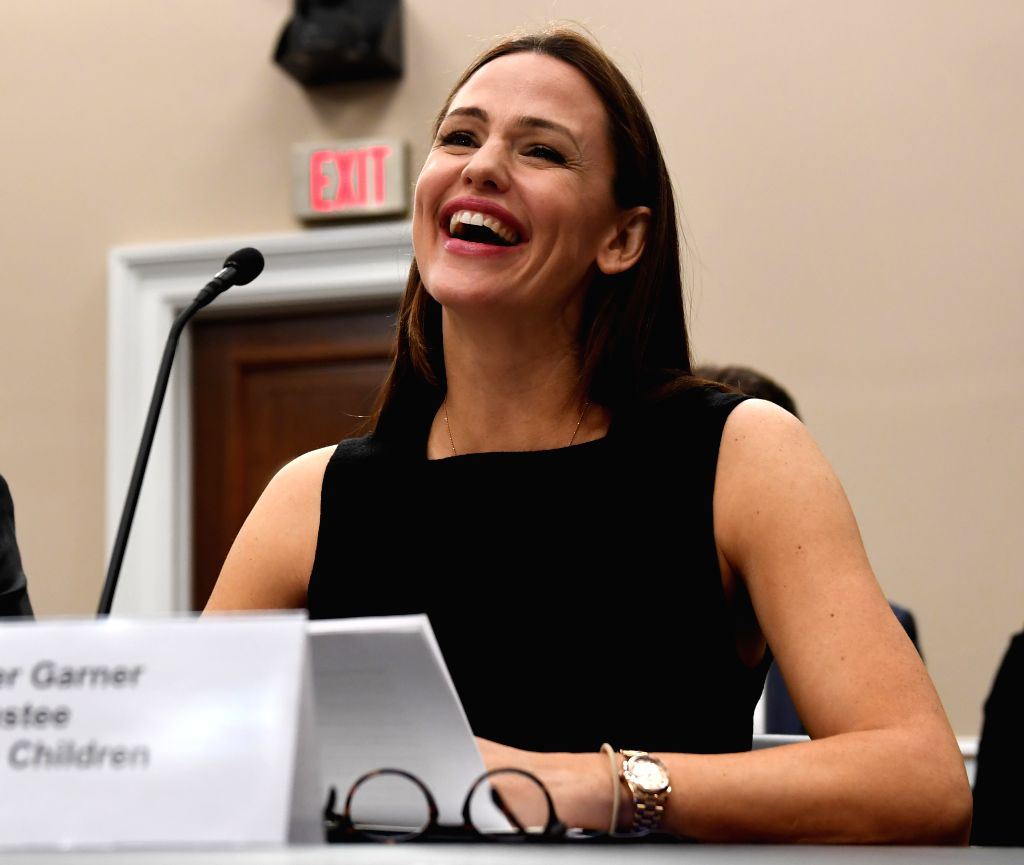 "WASHINGTON, March 16, 2017 - Actress, film producer and ""Save the Children"" trustee Jennifer Garner testifies before the House Labor, Health and Human Services, Education, and Related ..."