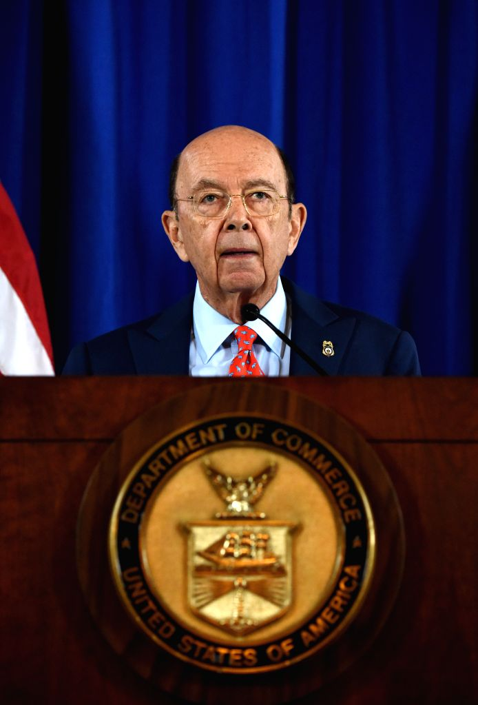 WASHINGTON, March 7, 2017 (Xinhua) -- U.S. Secretary of Commerce Wilbur Ross makes announcement on settlements between U.S. authorities and Chinese telecom equipment maker ZTE Corp. in Washington D.C., the United States, on March 7, 2017. Chinese tel
