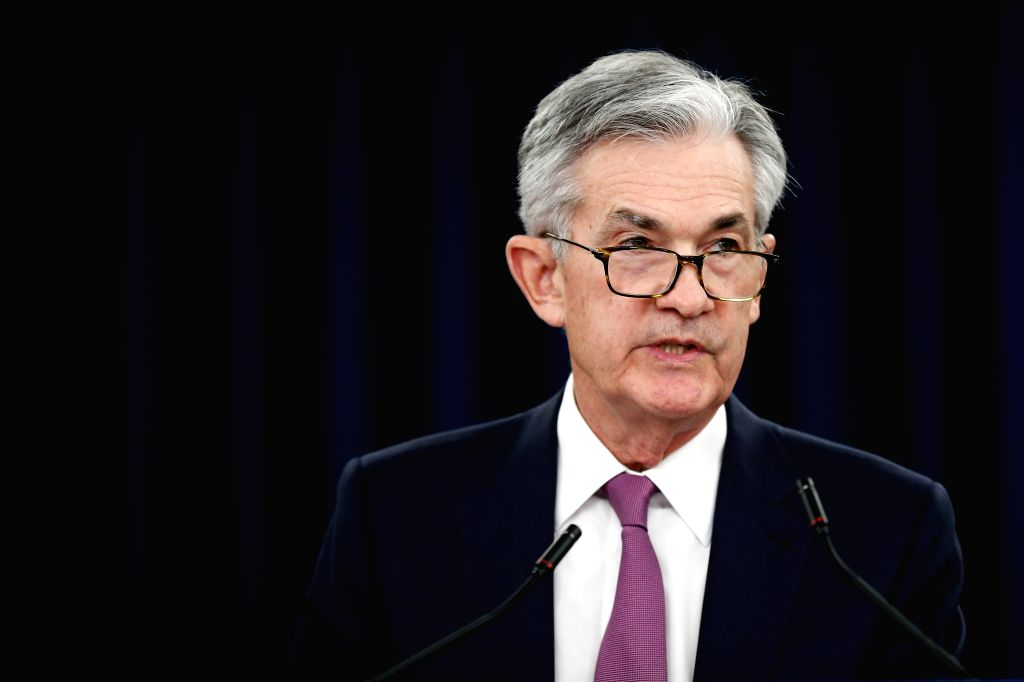 WASHINGTON, May 1, 2019 - U.S. Federal Reserve Chairman Jerome Powell speaks during a press conference in Washington D.C., the United States, on May 1, 2019. The U.S. Federal Reserve on Wednesday ...