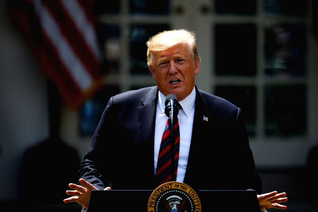 WASHINGTON, May 16, 2019 - U.S. President Donald Trump speaks regarding immigration reform at the White House in Washington D.C., the United States, on May 16, 2019. Donald Trump unveiled a plan on ...