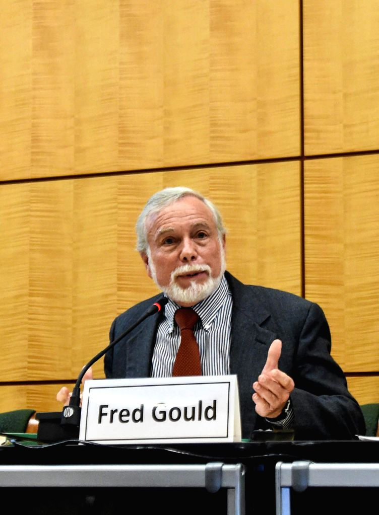 WASHINGTON, May 18, 2016 - Fred Gould, chairman of the study committee on genetically engineered (GE)  crops, speaks at a news conference in Washington, the United States, on May 17, 2016. ...