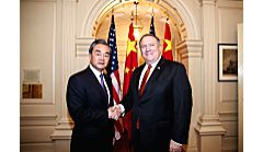 WASHINGTON, May 24, 2018 - Chinese State Councilor and Foreign Minister Wang Yi (L) meets with U.S. Secretary of State Mike Pompeo in Washington May 23, 2018. - Wang Y