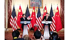 WASHINGTON, May 24, 2018 - Chinese State Councilor and Foreign Minister Wang Yi (L) and U.S. Secretary of State Mike Pompeo hold a press conference after their meeting in Washington May 23, 2018. - Wang Y