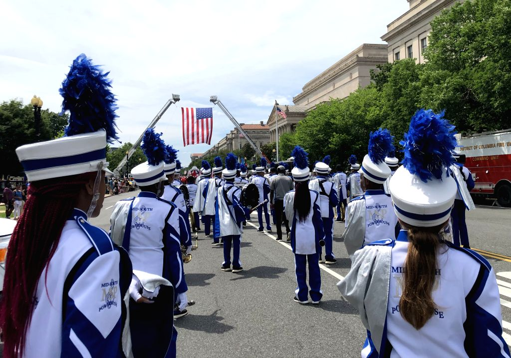 WASHINGTON, May 27, 2019 - People participate in the Memorial Day Parade in Washington D.C., the United States, on May 27, 2019. The Memorial Day is a United States federal holiday observed on the ...