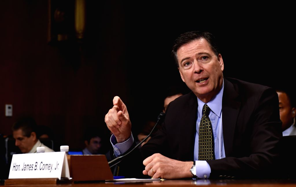 WASHINGTON, May 3, 2017 - U.S. FBI Director James Comey testifies before the U.S. bipartisan Senate Judiciary Committee hearing on Capitol Hill in Washington D.C., the United States, May 3, 2017. ...