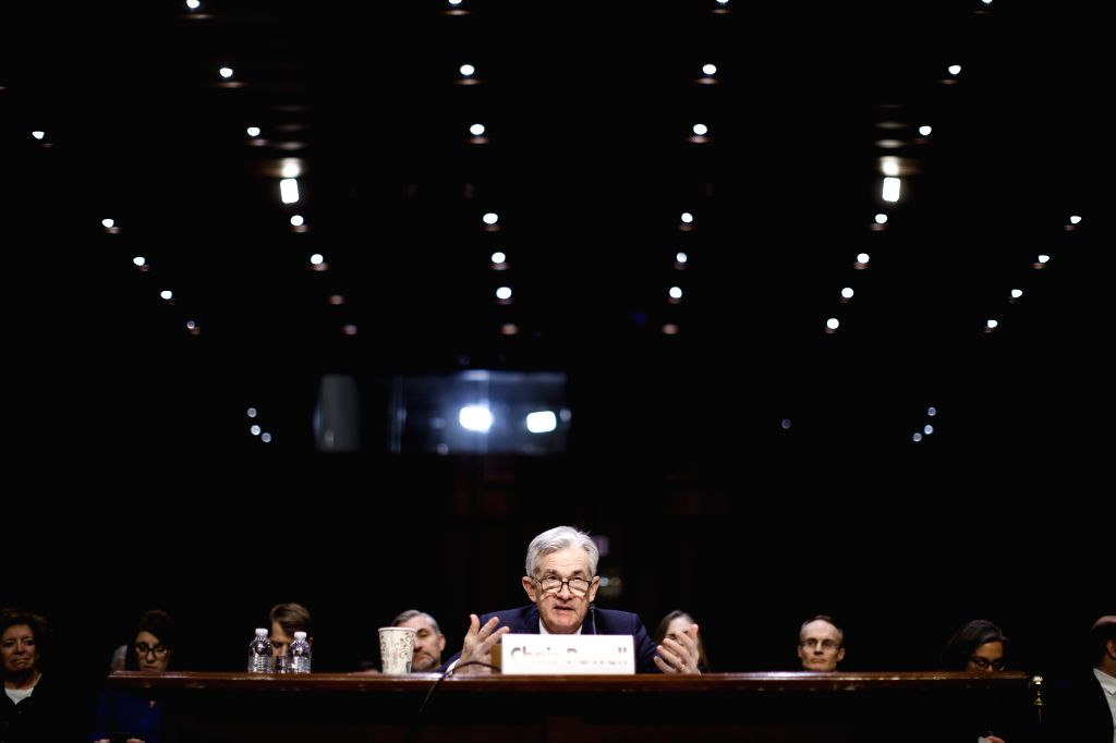 WASHINGTON, Nov. 13, 2019 - U.S. Federal Reserve Chairman Jerome Powell testifies before the Joint Economic Committee of Congress on economic outlook on Capitol Hill in Washington D.C., the United ...