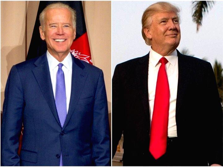 Washington Nov. 14  Combo photo shows U.S. Democrat Joe Biden (L) and U.S. President Donald Trump attending their respective events on different occasions.
