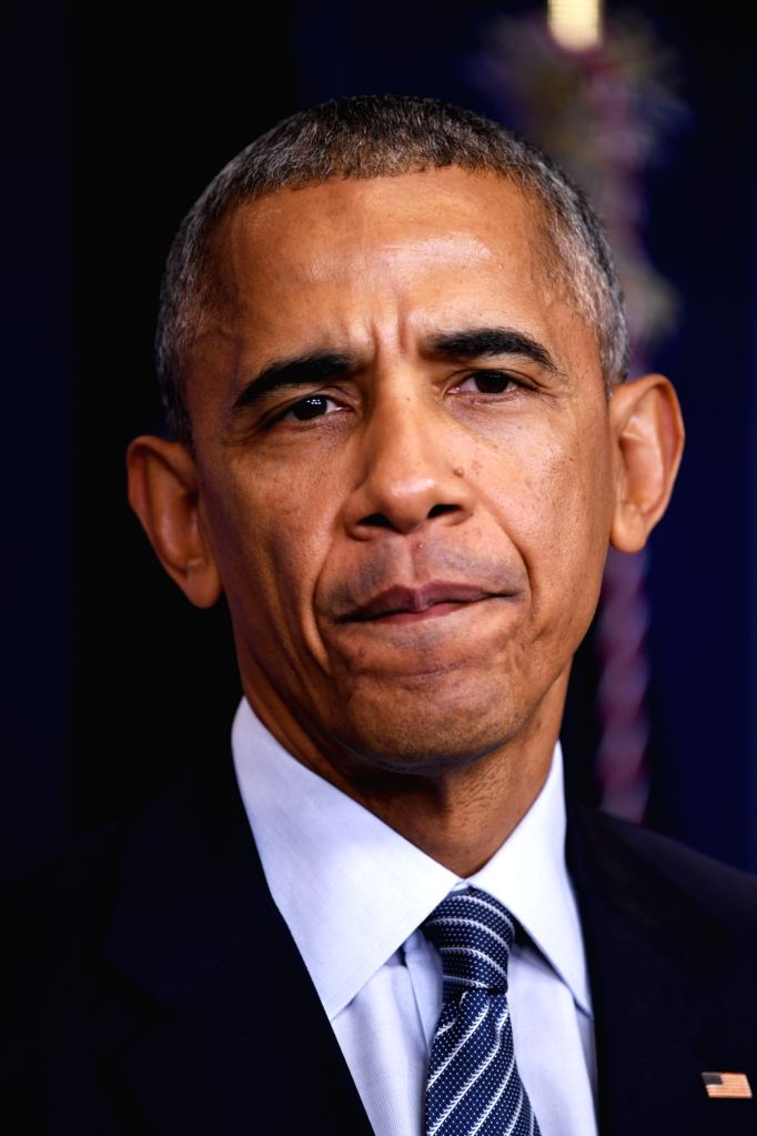 WASHINGTON, Nov. 15, 2016 - U.S. President Barack Obama reacts at his first press conference since last week's presidential election at the White House in Washington D.C., the United States, Nov. 14, ...