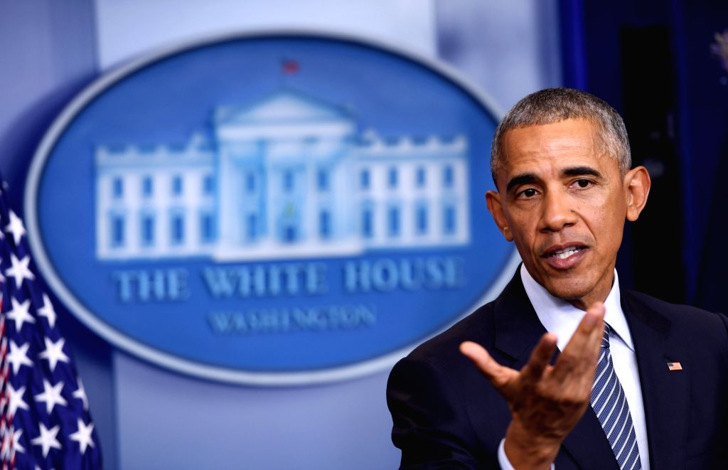 WASHINGTON, Nov. 15, 2016 - U.S. President Barack Obama gestures at his first press conference since last week's presidential election at the White House in Washington D.C., the United States, Nov. ...