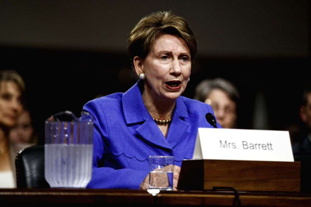 WASHINGTON, Sept. 12, 2019 - U.S. Secretary of the Air Force nominee Barbara M. Barrett testifies before the Senate Armed Services Committee for her confirmation hearing on Capitol Hill in Washington ...
