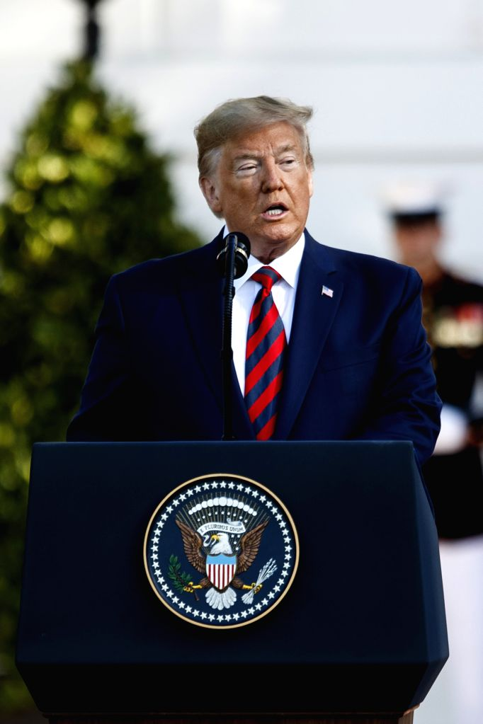 WASHINGTON, Sept. 20, 2019 - U.S. President Donald Trump welcomes Australian Prime Minister Scott Morrison (not in the picture) at the White House in Washington D.C., the United States, on Sept. 20, ... - Scott Morrison