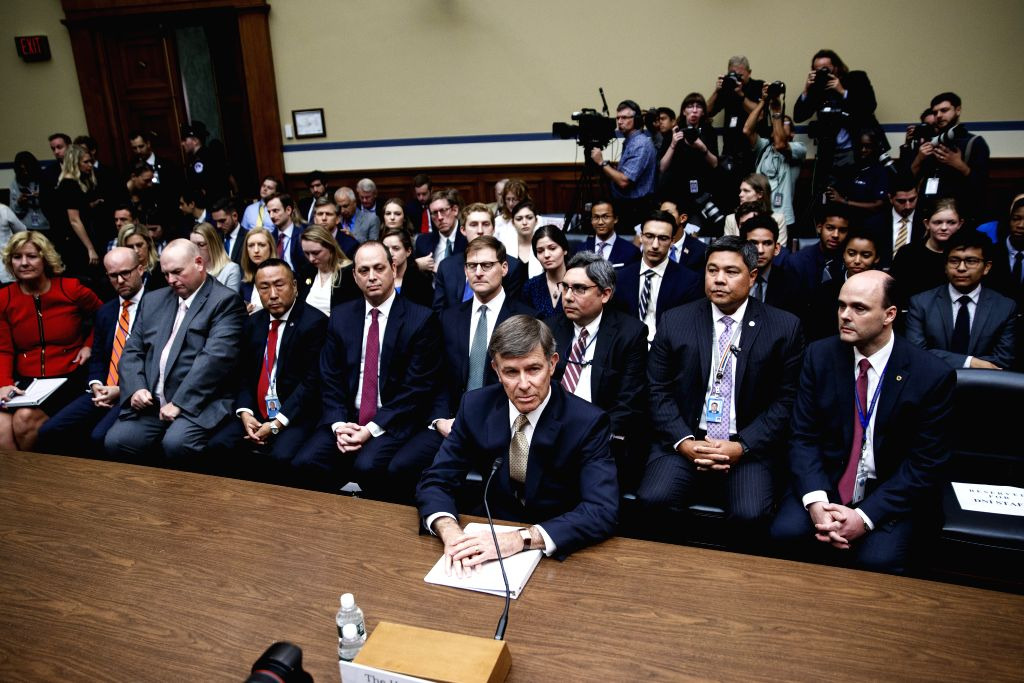 "WASHINGTON, Sept. 26, 2019 - U.S. Acting Director of National Intelligence Joseph Maguire (front) testifies before the House Intelligence Committee during a hearing titled ""Whistleblower ..."