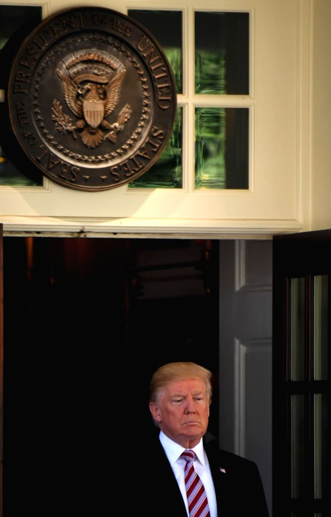 WASHINGTON, Sept. 7, 2017 - U.S. President Donald Trump at a joint press conference with visiting Kuwaiti Amir Sheikh Sabah Al-Ahmed Al-Jaber Al-Sabah (not in the picture) at the White House in ...