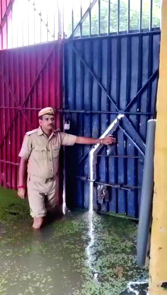 Water logged Ballia jail