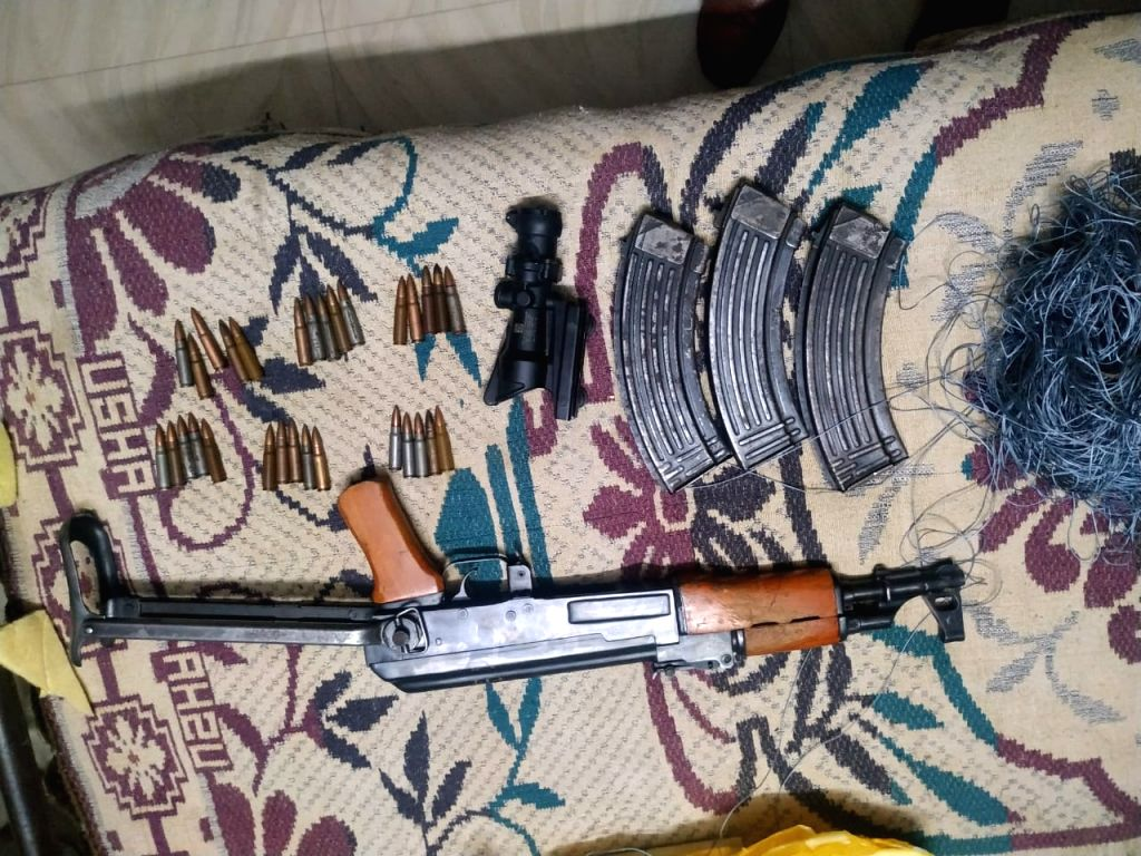 Weapons dropped by drone from Pak recovered near IB in Jammu