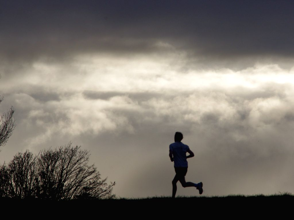 A man joins morning running in Lower Hutt, a small suburb city near Wellington, New Zealand, May 10, 2014.