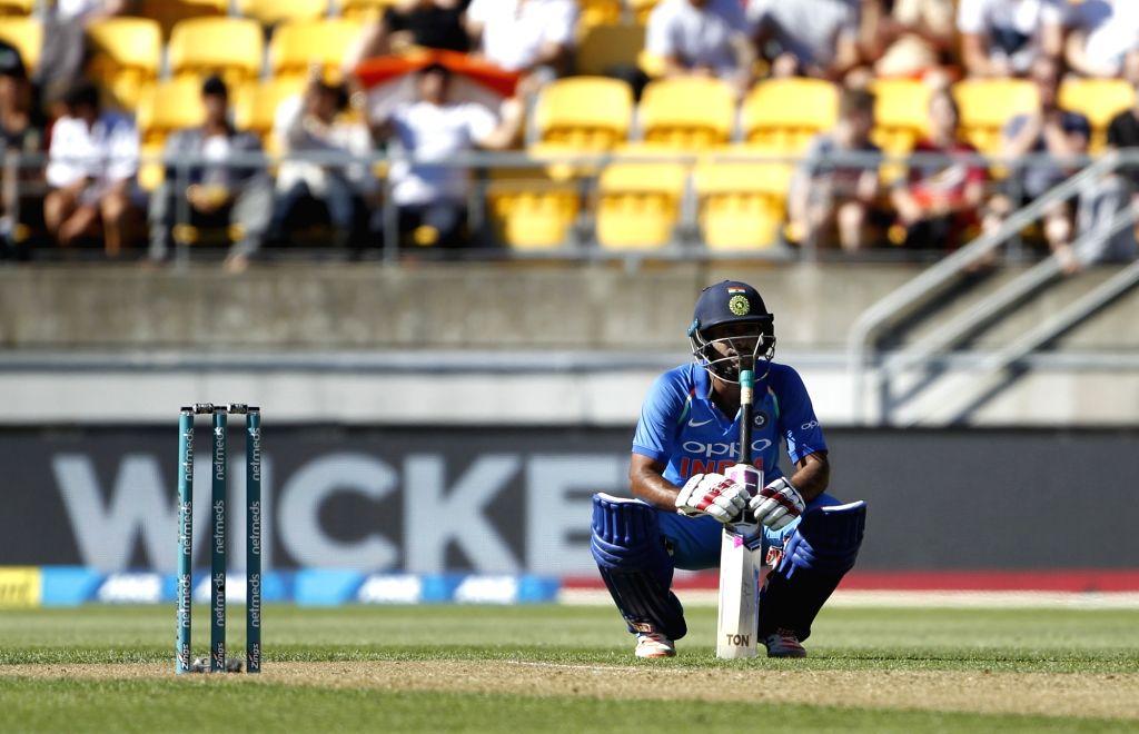Wellington (New Zealand): India's Ambati Rayudu during the fifth ODI match between India and New Zealand at Westpac Stadium in Wellington, New Zealand on Feb 3, 2019.