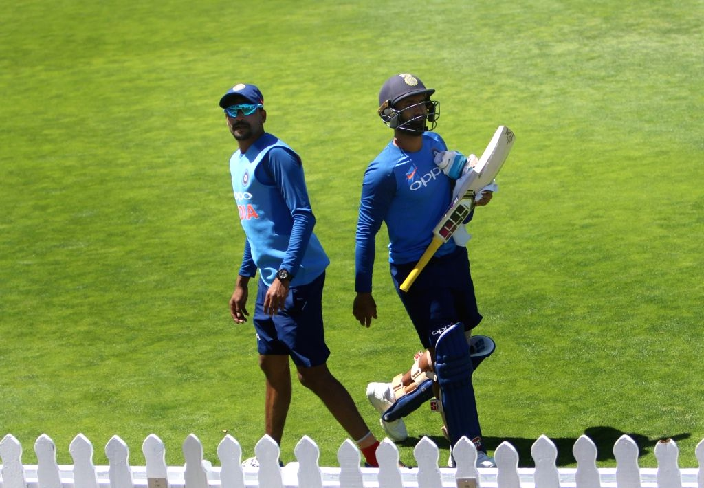 Wellington (New Zealand): India's Dinesh Karthik during a practice session at Basin Reserve cricket stadium in Wellington, New Zealand on Feb. 5, 2019.