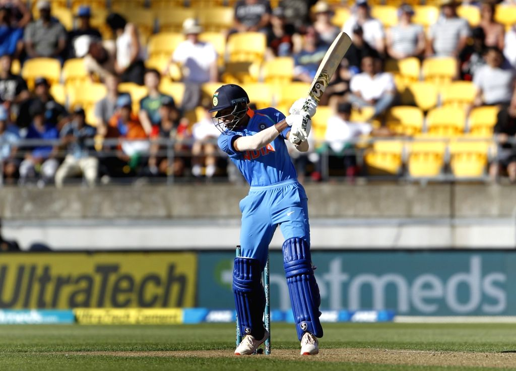 Wellington (New Zealand): India's Hardik Pandya in action during the fifth ODI match between India and New Zealand at Westpac Stadium in Wellington, New Zealand on Feb 3, 2019.