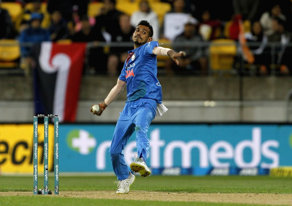 Wellington (New Zealand): India's Yuzvendra Chahal in action during the first T20I match between India and New Zealand at Westpac Stadium in Wellington, New Zealand on Feb 6, 2019.