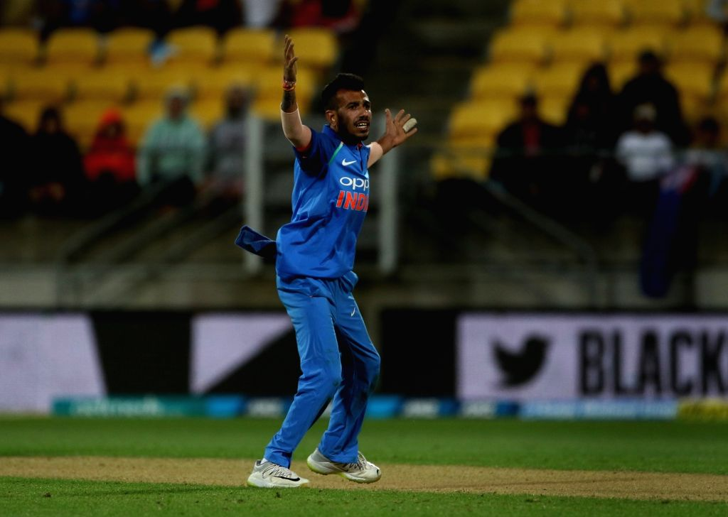 Wellington (New Zealand): India's Yuzvendra Chahal during the fifth ODI match between India and New Zealand at Westpac Stadium in Wellington, New Zealand on Feb 3, 2019. (Photo: Surjeet Yadav/IANS) - Surjeet Yadav