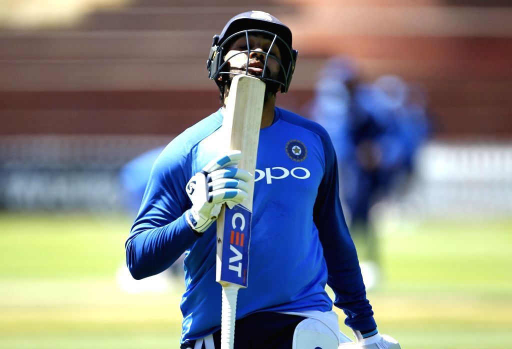 Wellington (New Zealand): Indian skipper Rohit Sharma during a practice session at Basin Reserve cricket stadium in Wellington, New Zealand on Feb. 5, 2019. (Photo: Surjeet Yadav/IANS) - Rohit Sharma and Surjeet Yadav