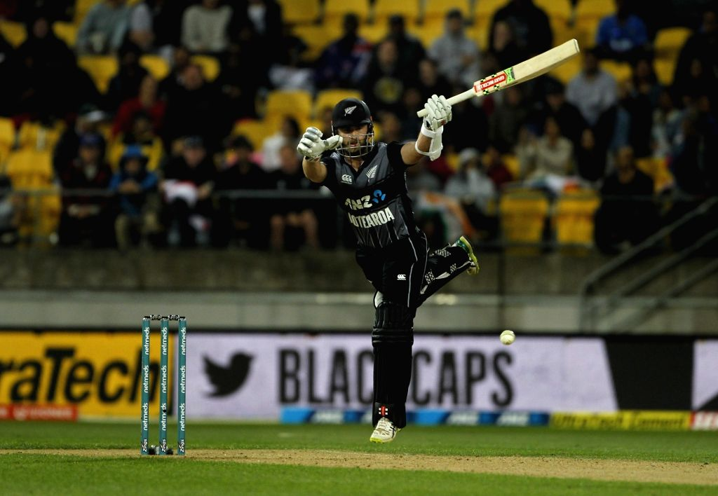 Wellington (New Zealand): New Zealand's Kane Williamson during the first Twenty20 International match between India and New Zealand at Westpac Stadium in Wellington, New Zealand on Feb 6, 2019.