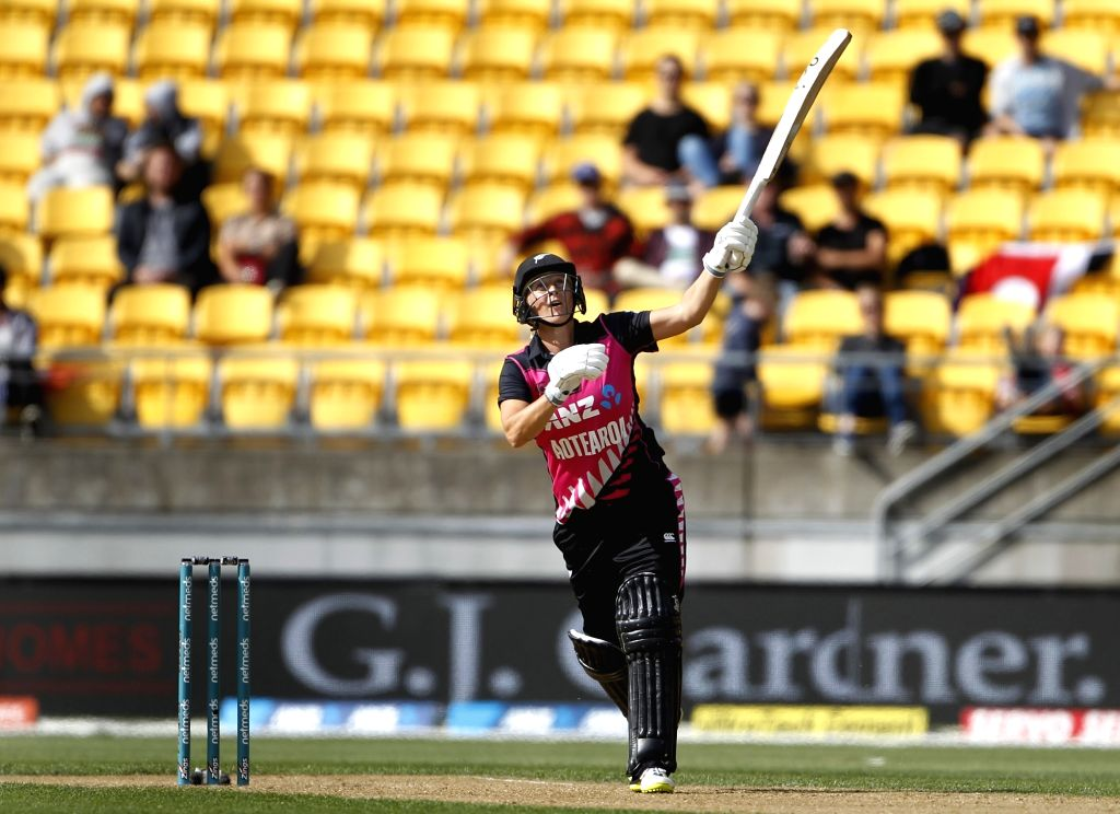 Wellington (New Zealand): New Zealand's Sophie Devine during the first women's Twenty20 International match between India and New Zealand at Westpac Stadium in Wellington, New Zealand on Feb 6, 2019.