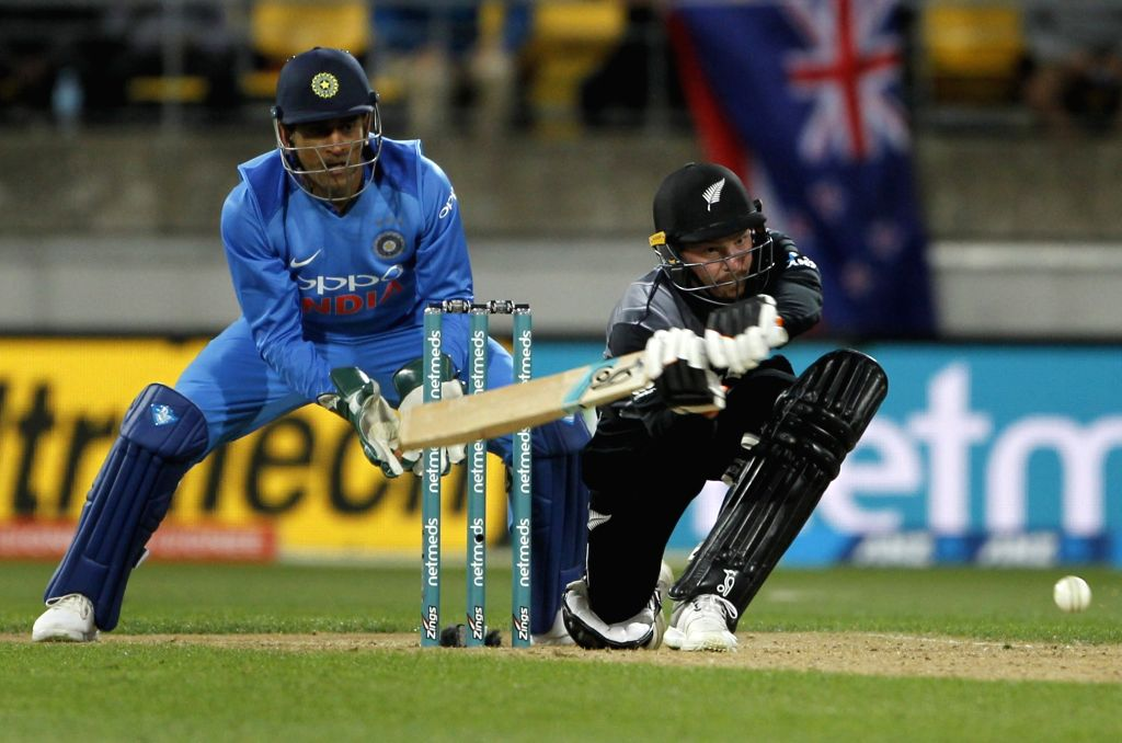 Wellington (New Zealand): New Zealand's Tim Seifert in action during the first Twenty20 International match between India and New Zealand at Westpac Stadium in Wellington, New Zealand on Feb 6, 2019.