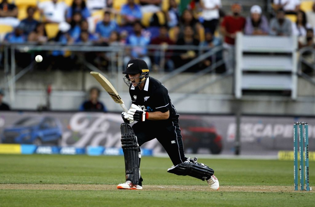 Wellington (New Zealand): New Zealand's Tom Latham reacts during the fifth ODI match between India and New Zealand at Westpac Stadium in Wellington, New Zealand on Feb 3, 2019.