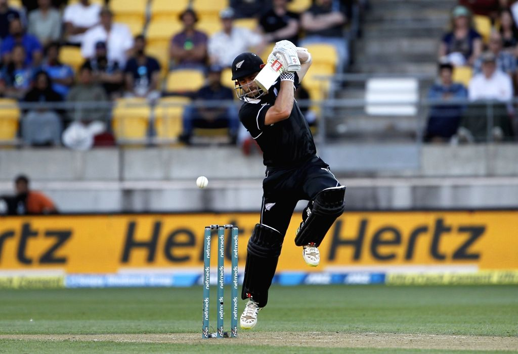 Wellington (New Zealand): New Zealand skipper Kane Williamson in action during the fifth ODI match between India and New Zealand at Westpac Stadium in Wellington, New Zealand on Feb 3, 2019.