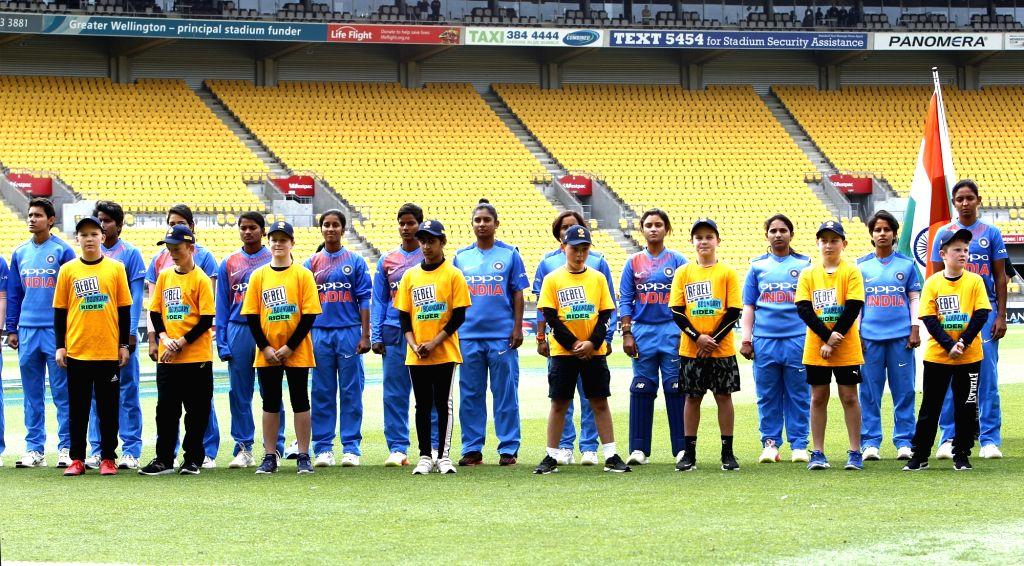 Wellington (New Zealand): The Indian team ahead of the first women's Twenty20 International match at Westpac Stadium in Wellington, New Zealand on Feb 6, 2019.