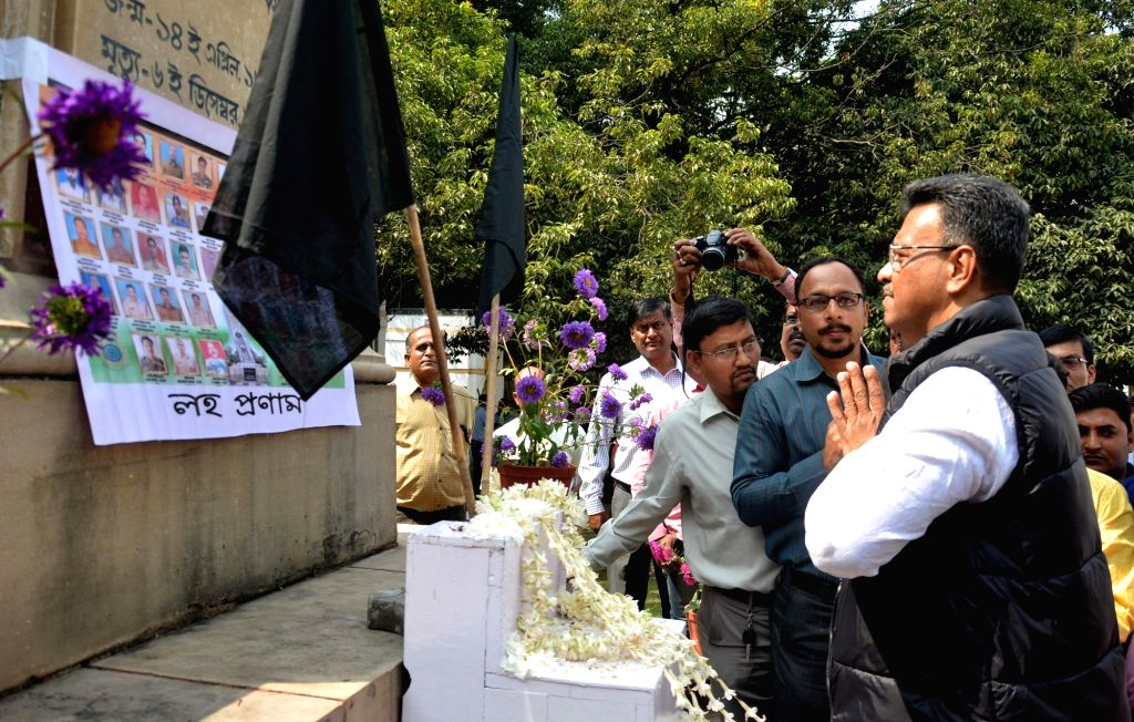 West Bengal Assembly MLA's take out a candle light rally to pay tribute to militant attack on a CRPF convoy in Jammu and Kashmir's Pulwama district in which 49 soldiers lost their lives; at ...