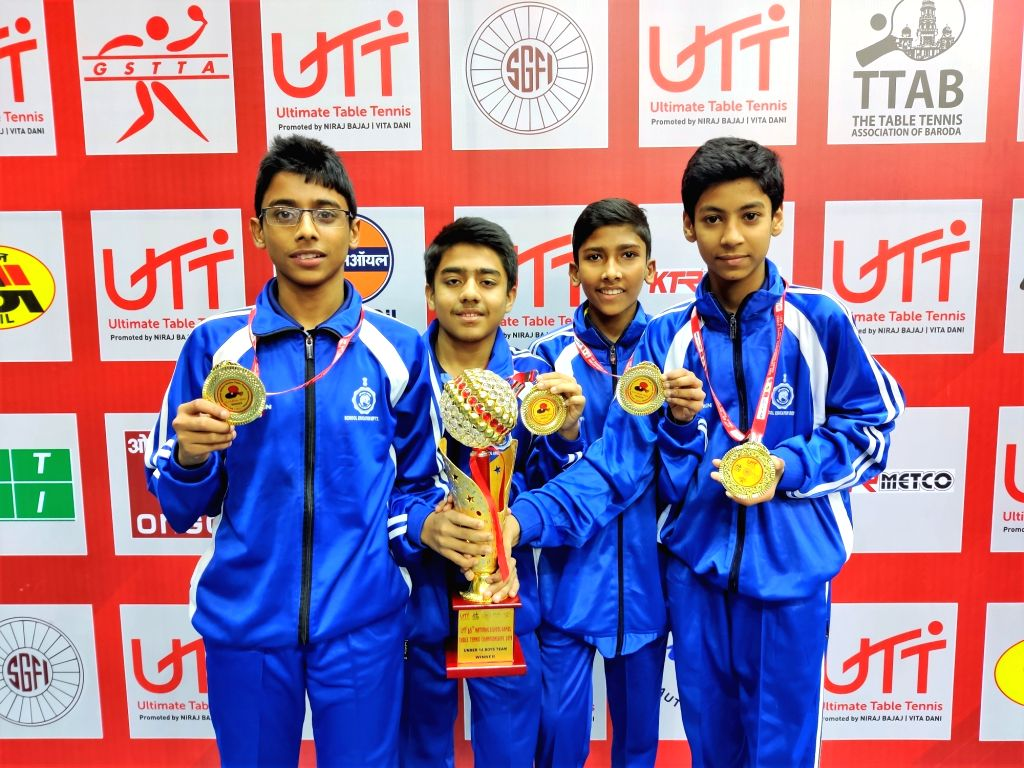 West Bengal boys won the U-14 team championship title at the UTT 65th School National Games.