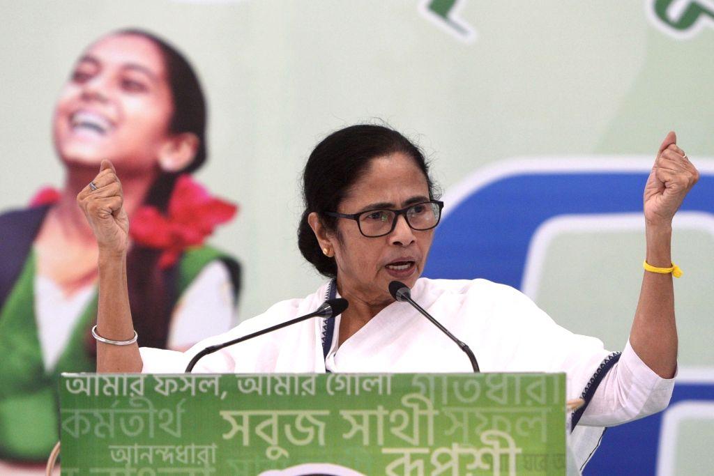 West Bengal Chief Minister and TMC Supremo Mamata Banerjee addresses TMC Chhatra Parishad Diwas celebrations at Kalighat in Kolkata on Aug 28, 2020. - Mamata Banerjee