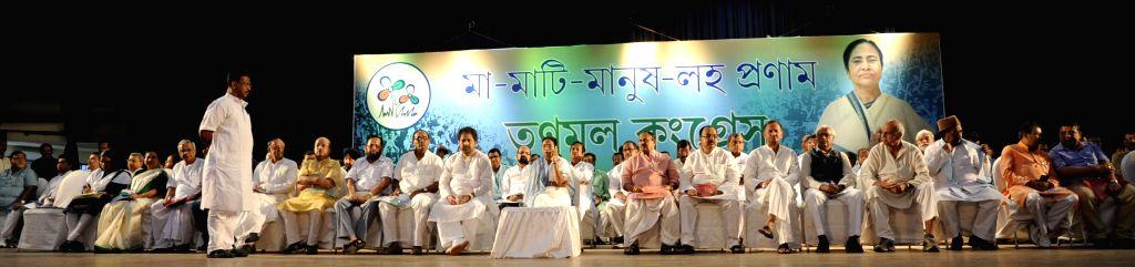 West Bengal Chief Minister and Trinamool Congress supremo Mamata Banerjee during a party meeting in Kolkata, on Aug 18, 2015. (Photo: IANS - Mamata Banerjee