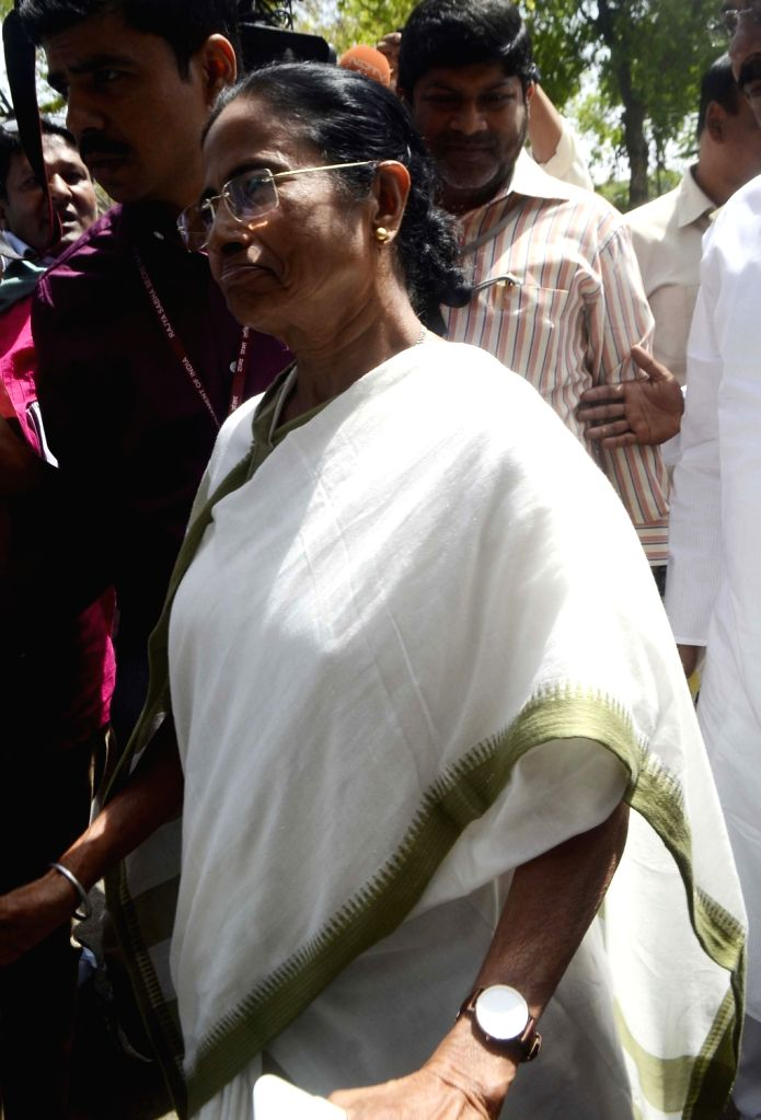 West Bengal Chief Minister and Trinamool Congress supremo Mamata Banerjee arrives in Parliament on March 27, 2018 - Mamata Banerjee