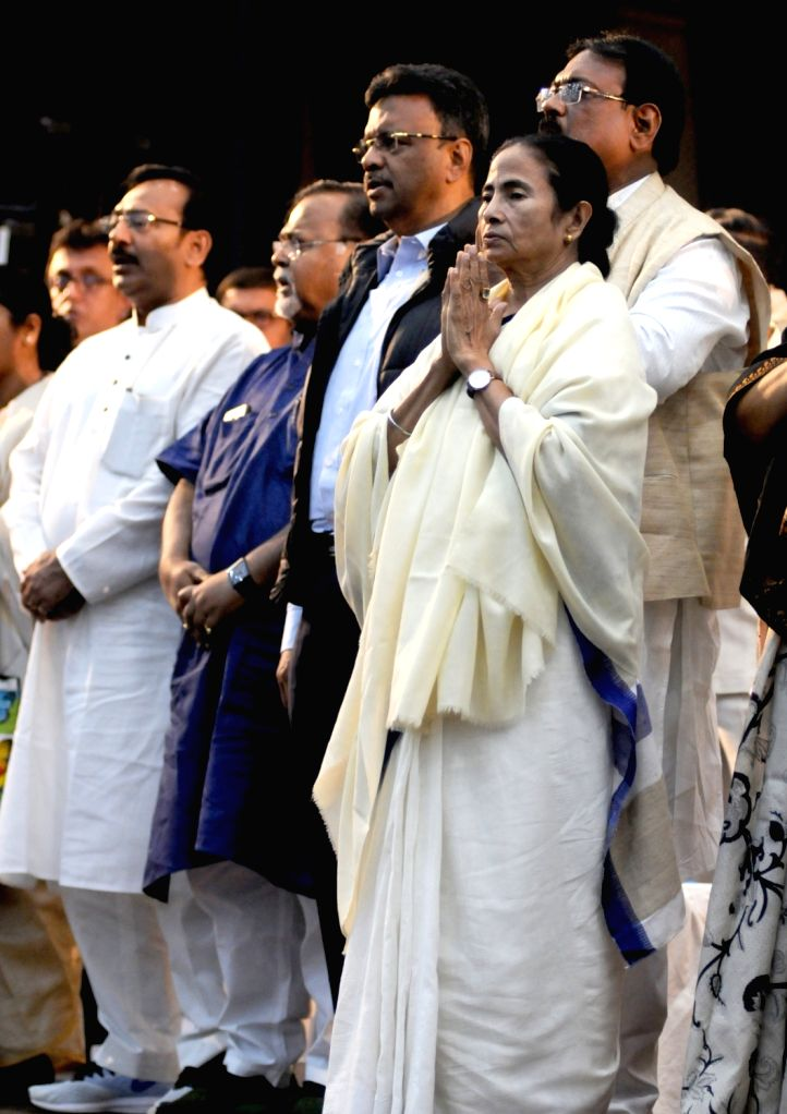 West Bengal Chief Minister and Trinamool Congress (TMC) supremo Mamata Banerjee during extended core committee meeting of TMC in Kolkata on Feb 25, 2019. - Mamata Banerjee