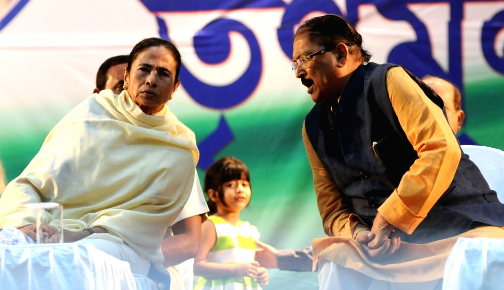 West Bengal Chief Minister and Trinamool Congress (TMC) supremo Mamata Banerjee and Subrata Mukherjee during extended core committee meeting of TMC in Kolkata on Feb 25, 2019. - Mamata Banerjee and Subrata Mukherjee