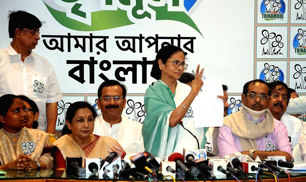 West Bengal Chief Minister and Trinamool Congress (TMC) supremo Mamata Banerjee during a press conference where she released the party's list of candidates for the upcoming 2019 Lok Sabha ... - Mamata Banerjee