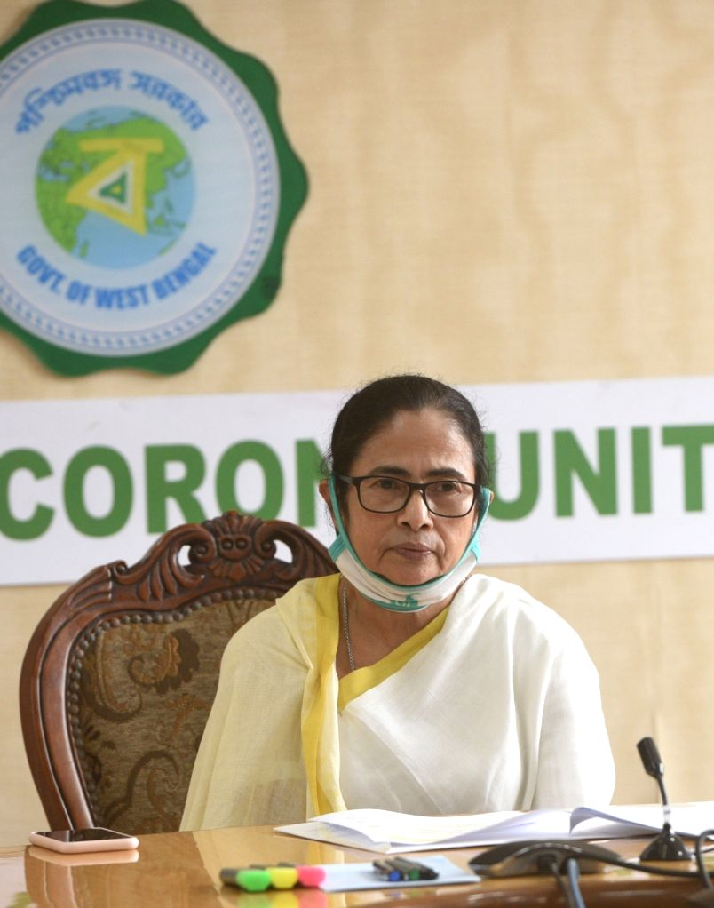 West Bengal Chief Minister Mamata Banerjee addresses during a webinar at Nabanna in Howrah on Sep 23, 2020. - Mamata Banerjee